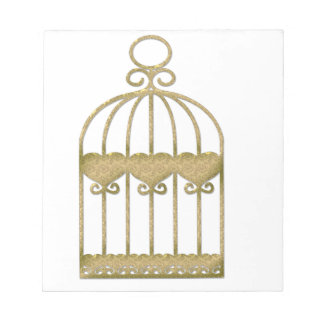 A cage is a cage even if it's beautiful notepad