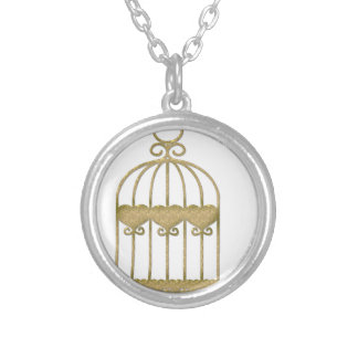 A cage is a cage even if it's beautiful silver plated necklace