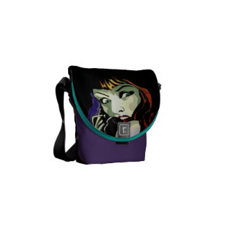 'A Call in the Night' Mini Messenger Bag