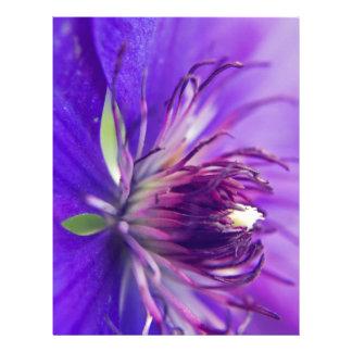 A Calyx of Blue Floral Photography Fine Art Nature Letterhead Template