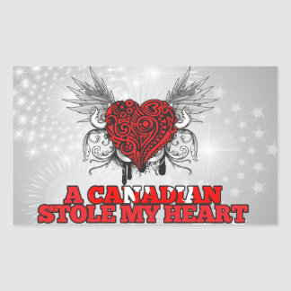 A Canadian Stole my Heart Sticker