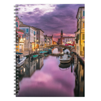 A canal in Venice spiral notebook