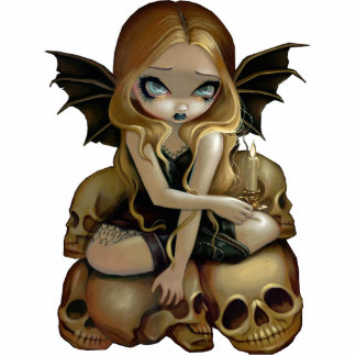 A Candle In The Dark skull fairy Photo Sculpture