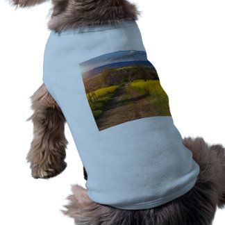 A canola field in spring dog t shirt