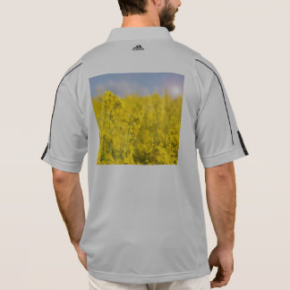 A canola field in spring polo shirt