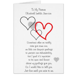 A card for partners and loved ones