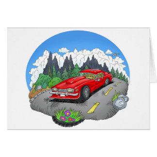 A cartoon illustration of a car. card