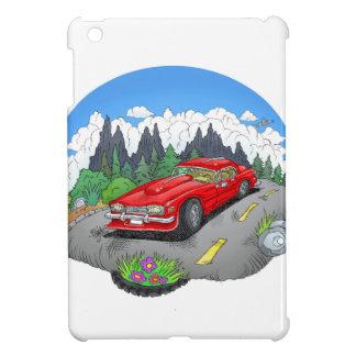 A cartoon illustration of a car. case for the iPad mini