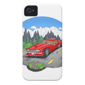 A cartoon illustration of a car. iPhone 4 Case-Mate case