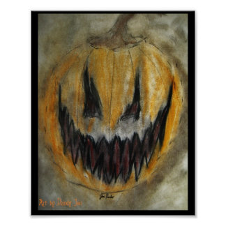 A Carved Smile Upon a Pumpkin Face Print