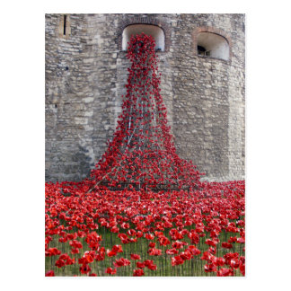 A Cascade Of Poppies At The Tower Of London Postcard
