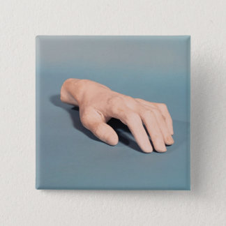 A cast of the hand of Frederic Chopin 2 Inch Square Button