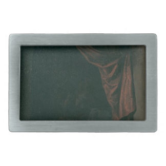 A cat at the window of a painters' studios by Gerr Rectangular Belt Buckles
