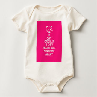 A Cat Cuddle A Day Keeps The Doctor Away Baby Bodysuit