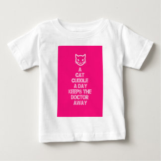 A Cat Cuddle A Day Keeps The Doctor Away Baby T-Shirt