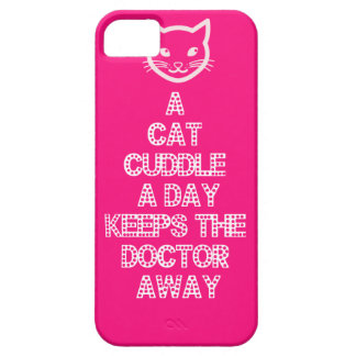 A Cat Cuddle A Day Keeps The Doctor Away iPhone 5 Case
