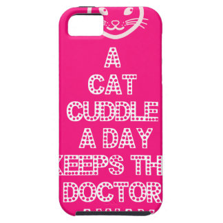A Cat Cuddle A Day Keeps The Doctor Away iPhone 5 Cases