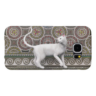 A cat on the mosaic samsung galaxy s6 cases