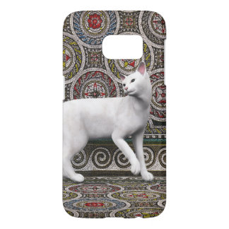 A cat on the mosaic samsung galaxy s7 case