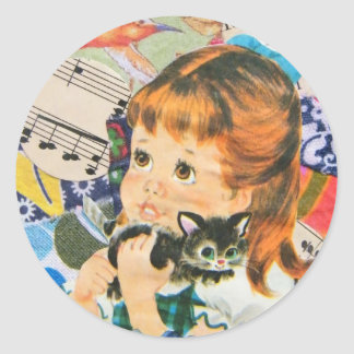 A Cat Owner's Prayer Classic Round Sticker