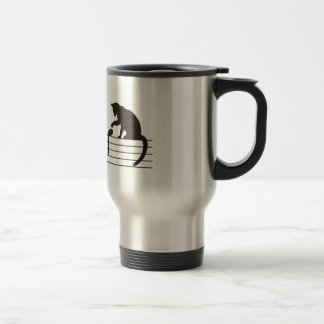 A Cat Toying with Notes Travel Mug