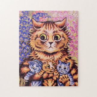 A Cat with Her Kittens Jigsaw Puzzle
