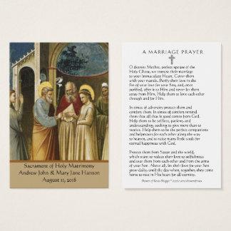 A Catholic Wedding Prayer Favour Holy Card