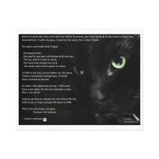 a cats dying wish canvas gallery wrap canvas