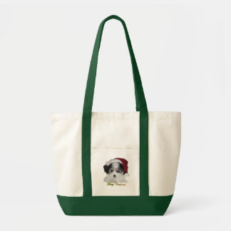A Cavachon Merry Christmas Canvas Bag
