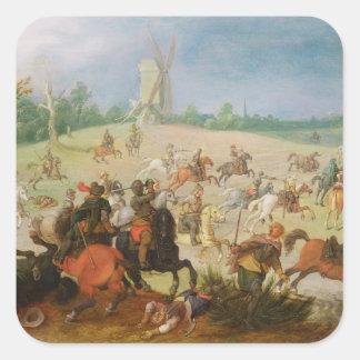 A cavalry battle square stickers