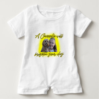A Cavoodle will Brighten your Day. Baby Romper