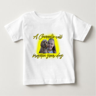 A Cavoodle will Brighten your Day. Baby T-Shirt