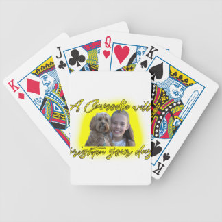 A Cavoodle will Brighten your Day. Bicycle Playing Cards