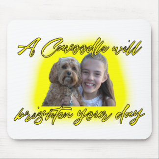 A Cavoodle will Brighten your Day. Mouse Pad