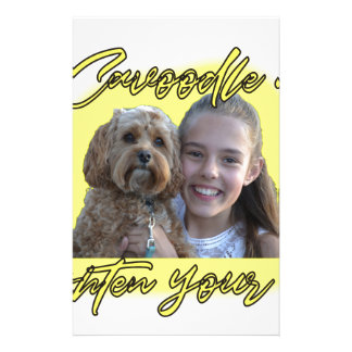 A Cavoodle will Brighten your Day. Stationery