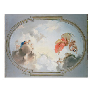 A Ceiling Design depicting the Apotheosis of Postcard