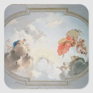 A Ceiling Design depicting the Apotheosis of Square Sticker