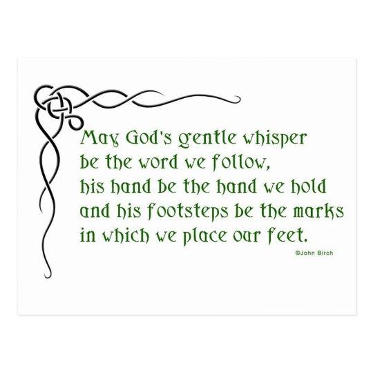 A Celtic Blessing Postcard