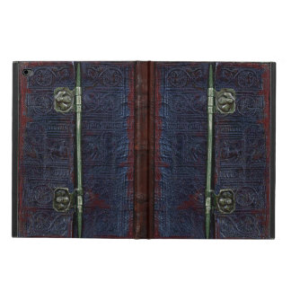 A Centuries Old Worn Leather And Brass Book Cover
