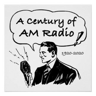 A Century of AM Radio Poster