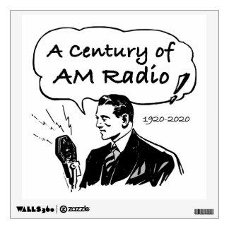 A Century of AM Radio Wall Sticker