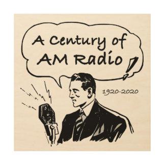 A Century of AM Radio Wood Wall Decor