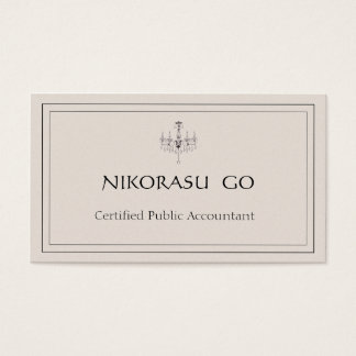 a certified public accountant BUSINESSCARD Business Card