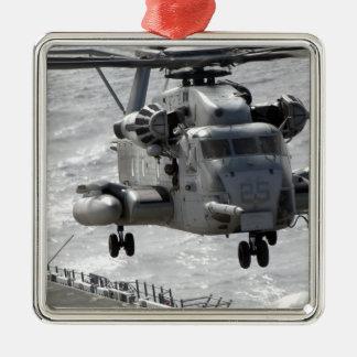 A CH-53E Super Stallion helicopter Metal Ornament