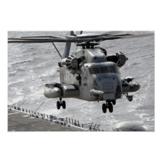 A CH-53E Super Stallion helicopter Poster