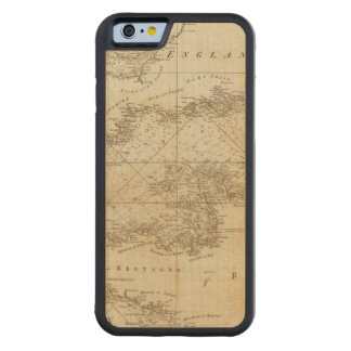 A chart of the British Channel Maple iPhone 6 Bumper Case