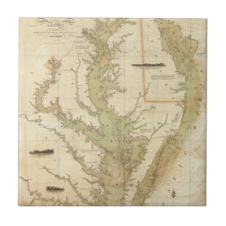 A Chart of the Chesapeake And Delaware Bays Tile