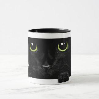 A cheeky cat mug,on his way to surprise you. mug