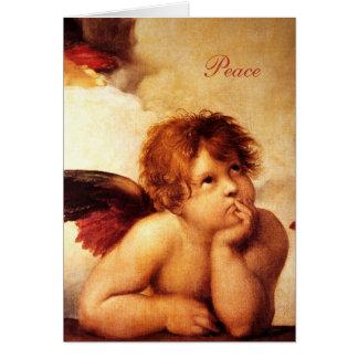A Cherub, Detail of the Sistine Madonna - Raphael Card