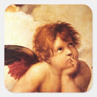 A Cherub, Detail of the Sistine Madonna - Raphael Stickers